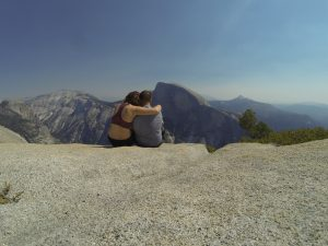 The view of Half Dome from the top of North Dome