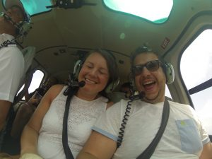 helicopter selfie
