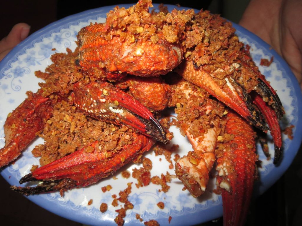 Chilli baked crab