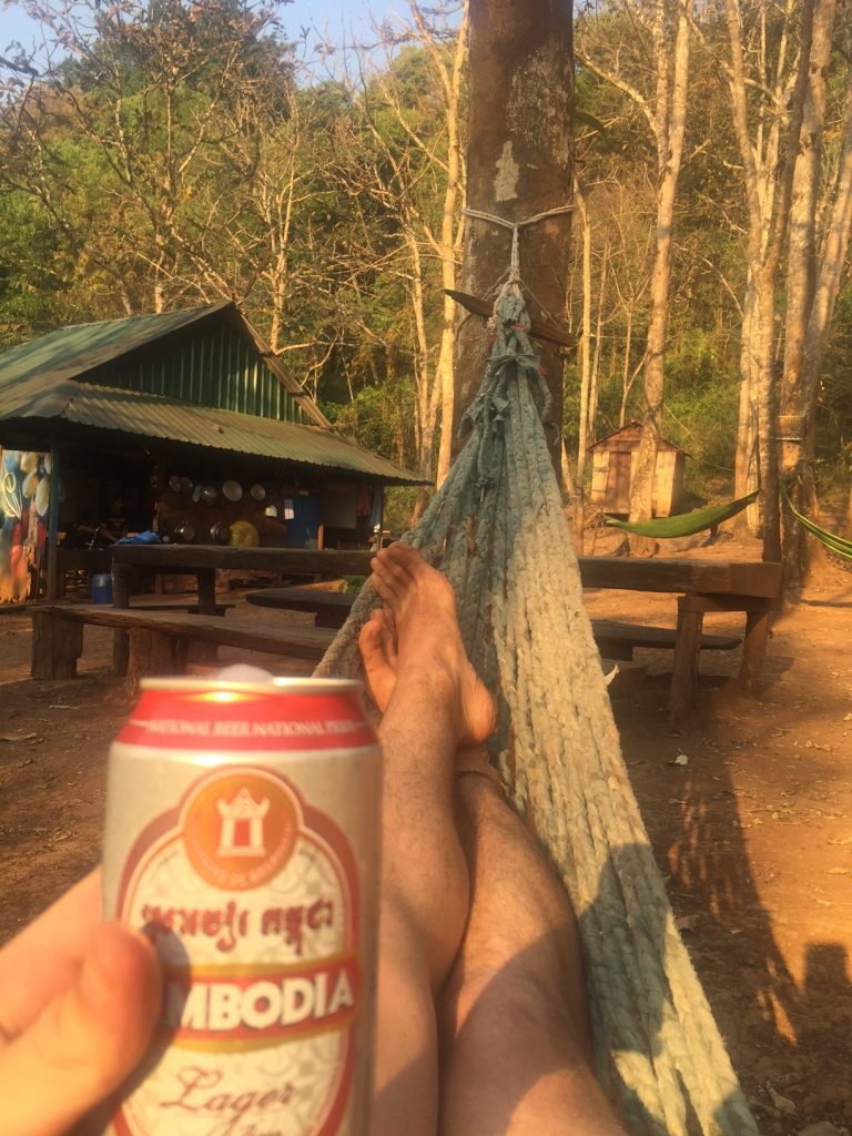 Beer and hammock view