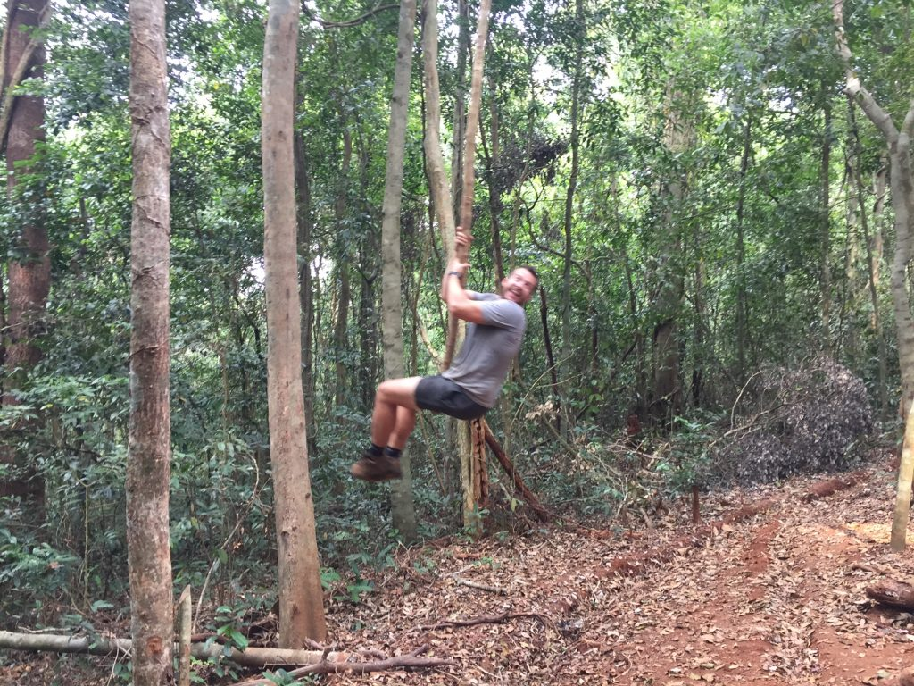 Jungle rope swing
