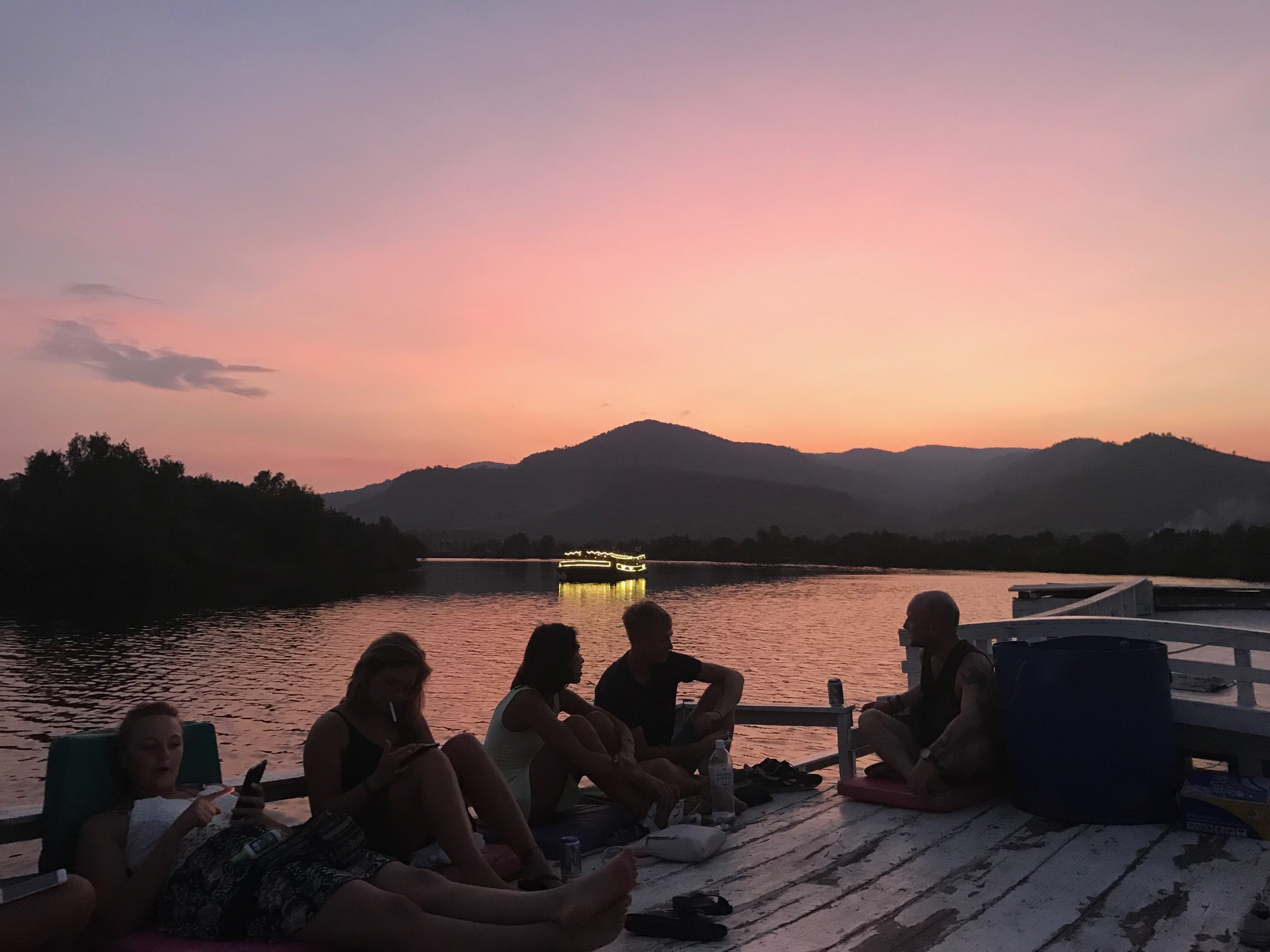 Sunset river cruise kampot