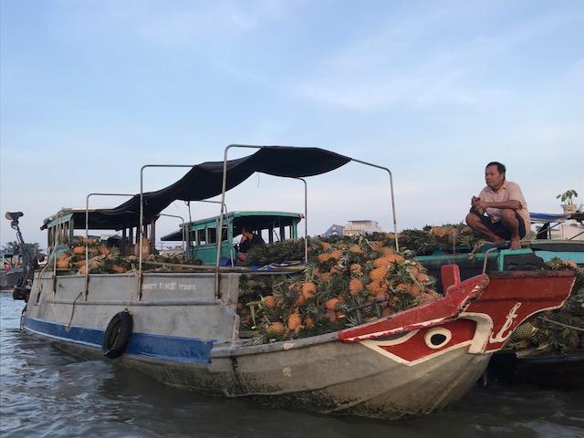 Cai Rang pineapple boat