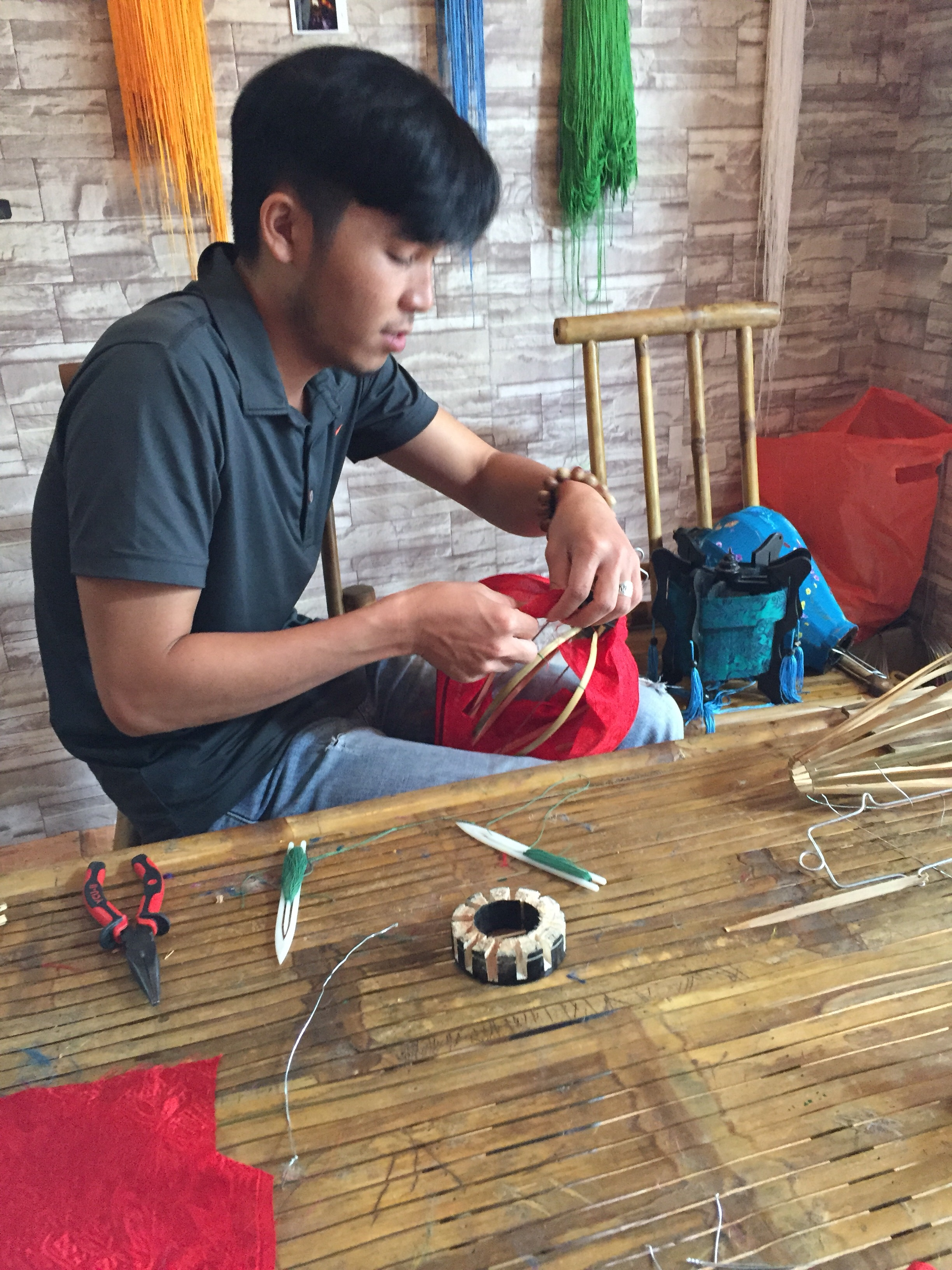 Chinese lantern making workshop - Hoi An