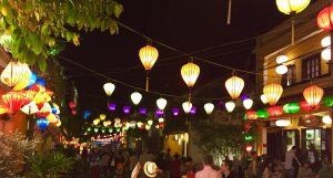 Lanterns on Bach Dang in the Old Town