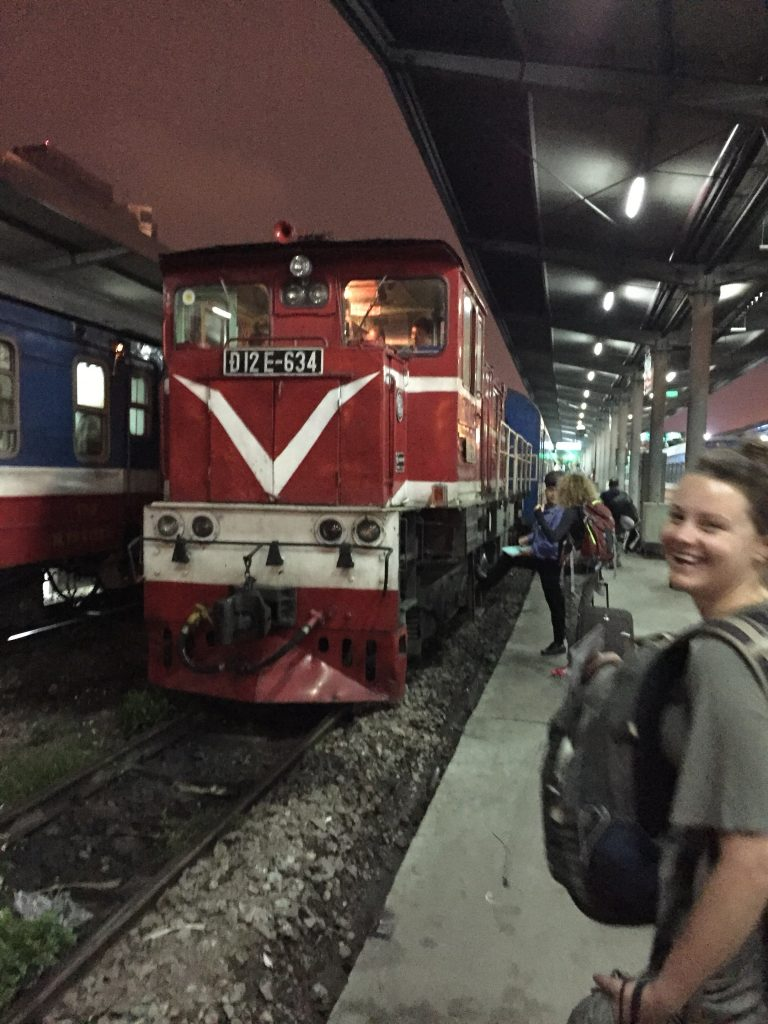 Chapa Express train at Hanoi station