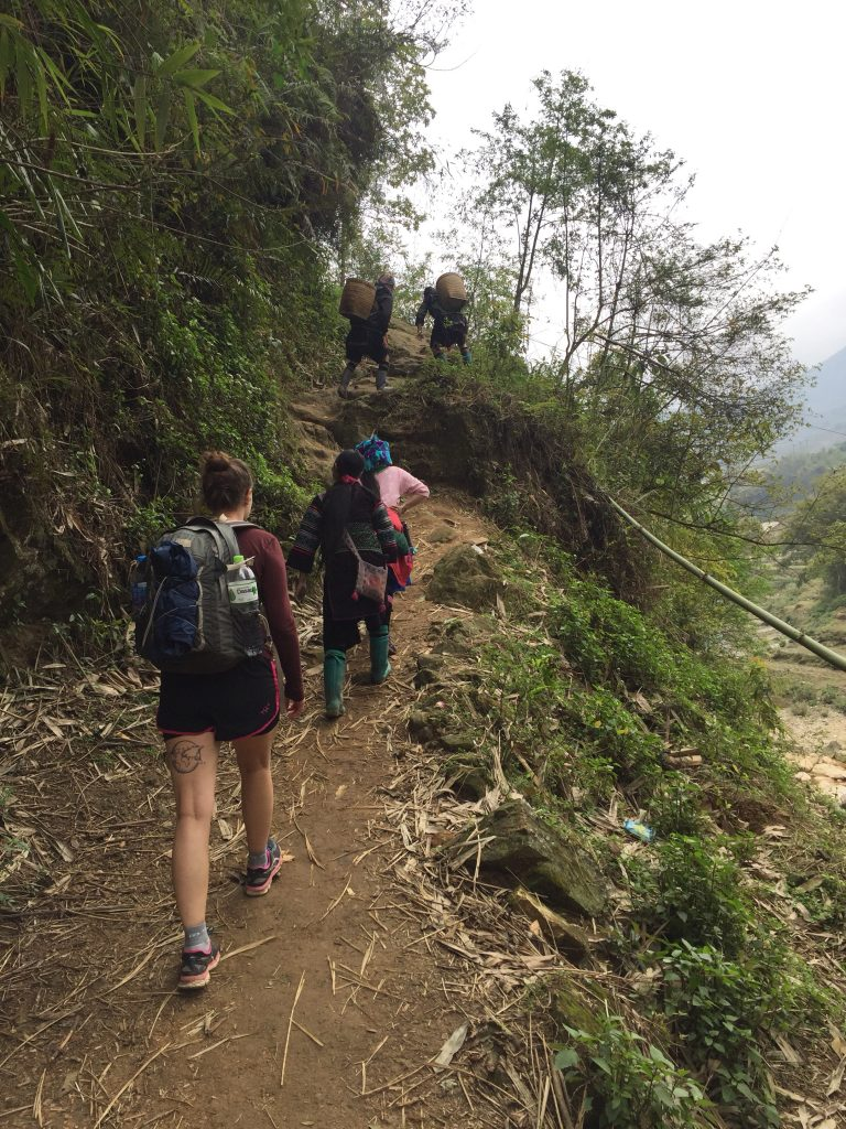 Valleyside trekking in Sapa, Vietnam.