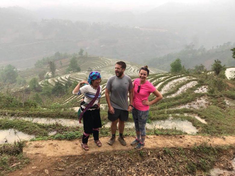 Giang, myself and Katy in Sapa