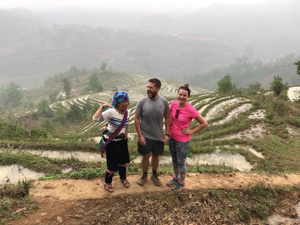 Giang, myself and Katy in Sapa