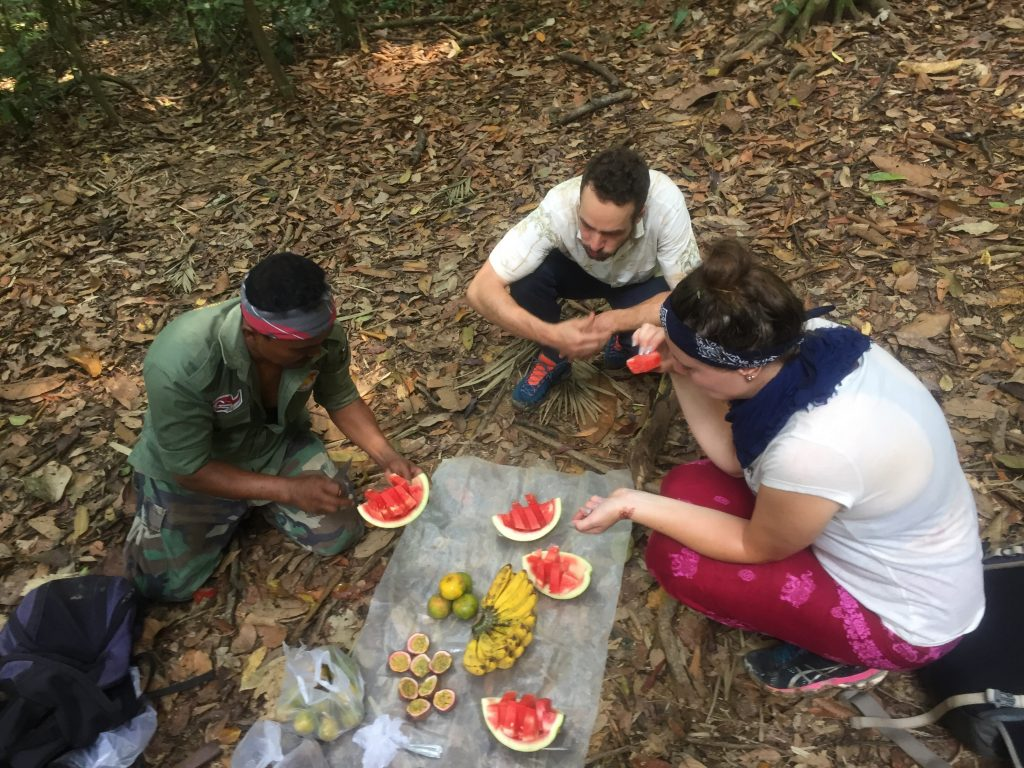 Fruit break in Gunung Leuser national park